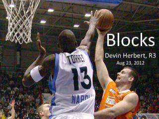 Blocks Devin Herbert, R3 Aug 23, 2012