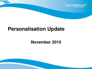 Personalisation Update