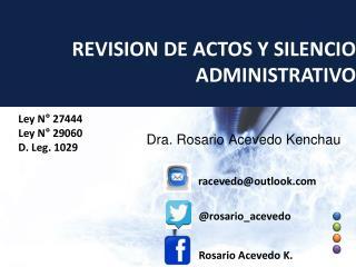 Dra. Rosario Acevedo Kenchau