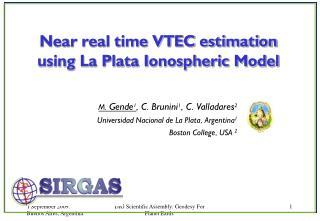 M.  Gende 1 , C. Brunini 1 , C. Valladares 2 Universidad Nacional de La Plata, Argentina 1