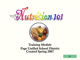 Training Module Page Unified School District Created Spring 2007