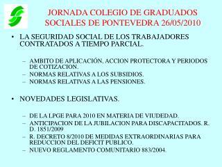 JORNADA COLEGIO DE GRADUADOS SOCIALES DE PONTEVEDRA 26/05/2010