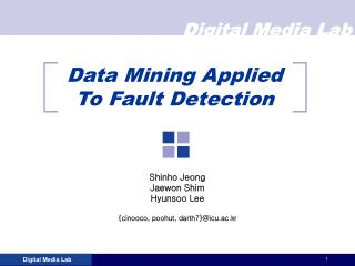 Data Mining Applied To Fault Detection