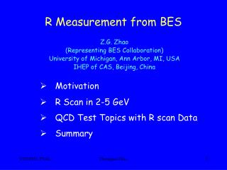 R Measurement from BES