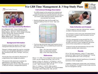 8 is GR8 Time Management & 3 Step Study Plans