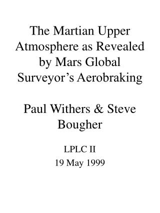 LPLC II 19 May 1999