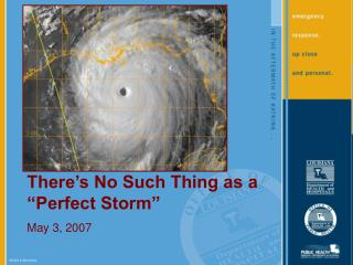 "There's No Such Thing as a ""Perfect Storm"" May 3, 2007"