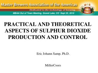 PRACTICAL AND THEORETICAL ASPECTS OF SULPHUR DIOXIDE PRODUCTION AND CONTROL