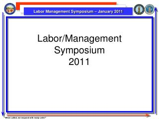 Labor/Management Symposium 2011