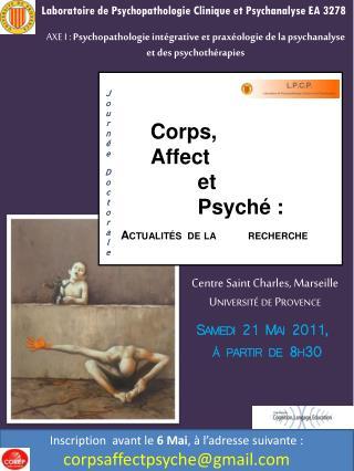 Corps,  Affect  et  Psyché : Actualités de la recherche