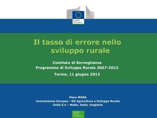 Il  tasso di  errore nello sviluppo rurale