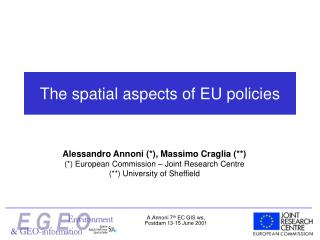The spatial aspects of EU policies