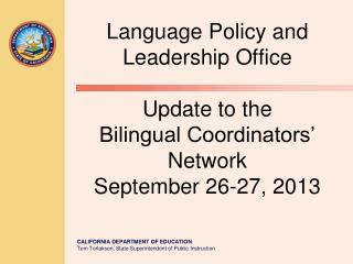 Accountability Leadership Institute for English Learners  and Immigrant Students