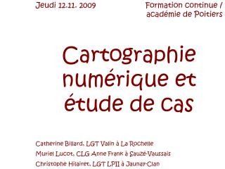 Cartographie numérique et étude de cas
