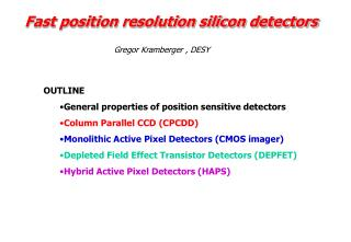 Fast position resolution silicon detectors