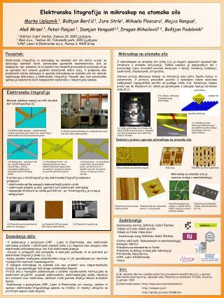 Elektronska litografija in mikroskop na atomsko silo