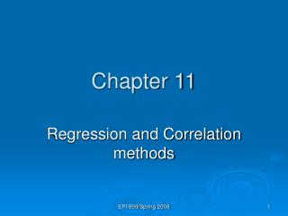 Regression and Correlation methods