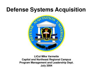 Defense Systems Acquisition