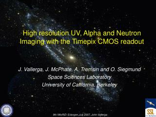 High resolution UV, Alpha and Neutron Imaging with the Timepix CMOS readout