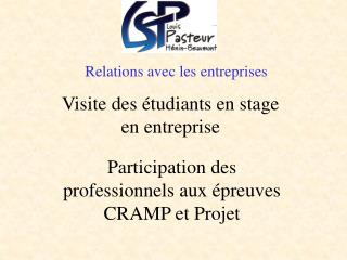 Relations avec les entreprises