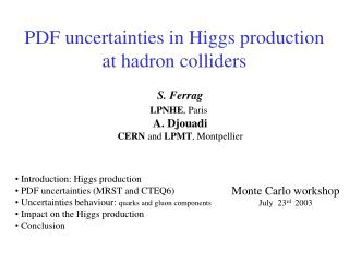 PDF uncertainties in Higgs production at hadron colliders