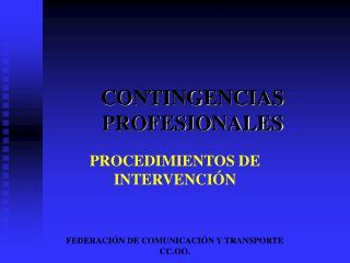 CONTINGENCIAS PROFESIONALES