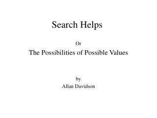 Search Helps