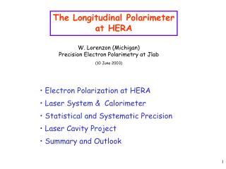 The Longitudinal Polarimeter at HERA