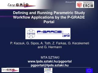 Defining and Running Parametric Study Workflow Applications by the P-GRADE Portal