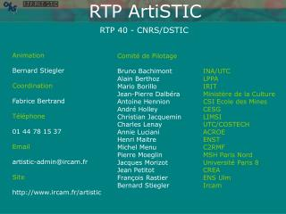 RTP 40 - CNRS/DSTIC