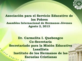 Asociación para el Servicio Educativo de los Pobres  Asamblea Internacional de Hermanos Jóvenes