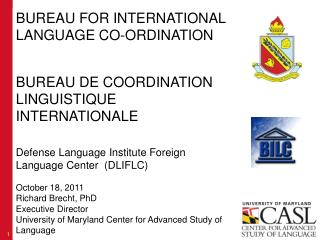 BUREAU FOR INTERNATIONAL LANGUAGE CO-ORDINATION