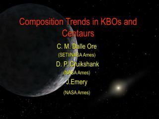 Composition Trends in KBOs and Centaurs