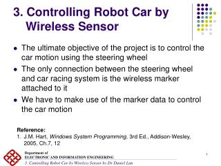 3. Controlling Robot Car by Wireless Sensor