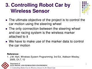 3. Controlling Robot Car by Wireless Sensor