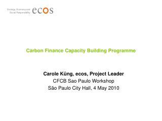 Carbon Finance Capacity Building Programme