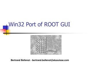 Win32 Port of ROOT GUI