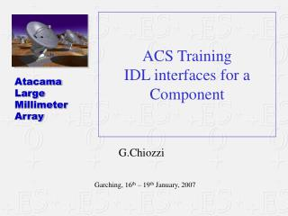 ACS Training IDL interfaces for a Component