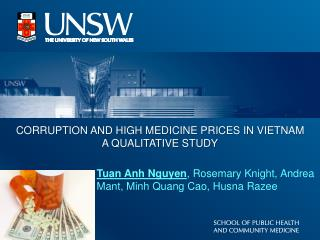 CORRUPTION AND HIGH MEDICINE PRICES IN VIETNAM A QUALITATIVE STUDY
