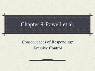 Chapter 9-Powell et al.