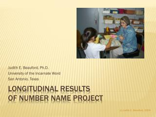 Longitudinal Results  of Number Name Project