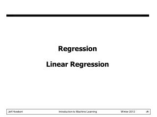 Regression Linear Regression