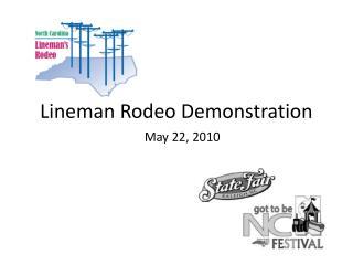 Lineman Rodeo Demonstration