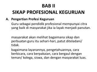 BAB II SIKAP PROFESIONAL KEGURUAN