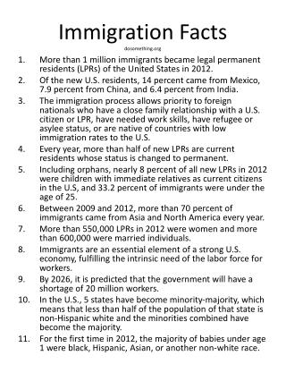 Immigration Facts dosomething