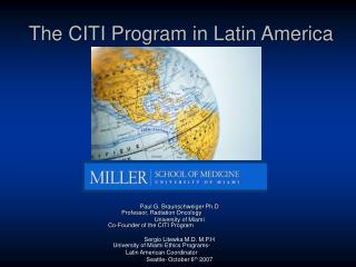 The CITI Program in Latin America