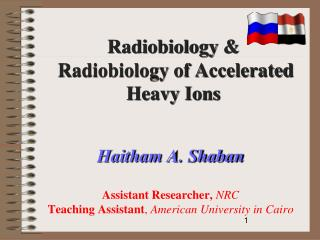 Haitham A. Shaban Assistant Researcher,  NRC Teaching Assistant ,  American University in Cairo