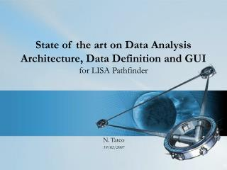 State of the art on Data Analysis Architecture, Data Definition and GUI for LISA Pathfinder