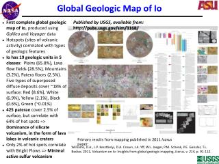 Global Geologic Map of Io