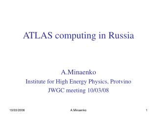 ATLAS computing in Russia